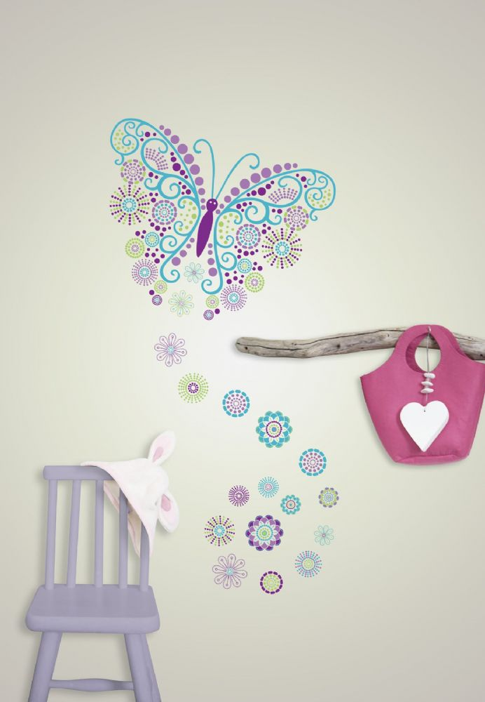 Gorgeous Butterfly Wall Art Sticker Kit